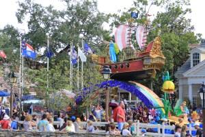 Peter Pan Float in Festival of Fantasy Parade