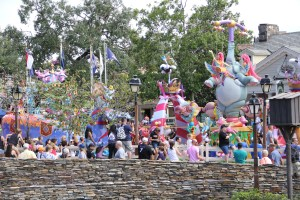 Dumbo and friends in Festival of Fantasy parade