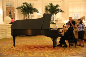Piano player in lobby of grand floridian