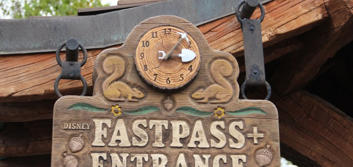 Seven Dwarfs Mine Train FastPass Sign