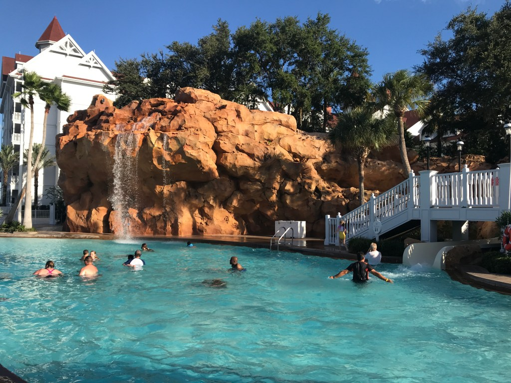 Grand Floridian Waterfall and Waterslide at Disney World Resorts