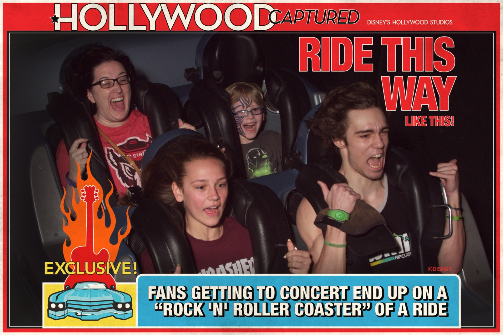 Riding Rock N Roller Coaster with Mom