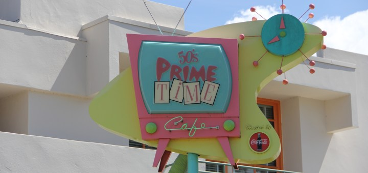 50s prime time cafe sign