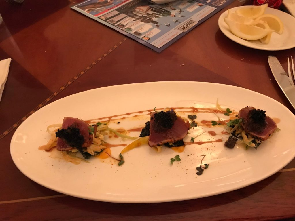 Hollywood Brown Derby Tuna Appetizer