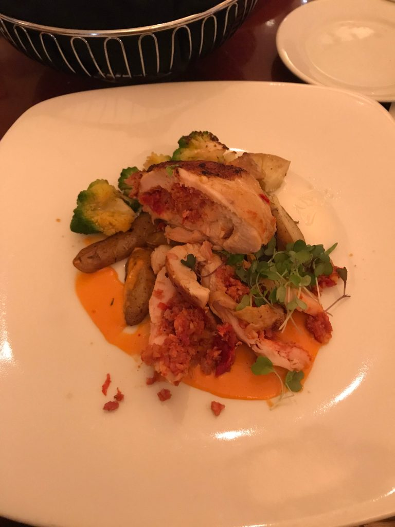 Hollywood Brown Derby stuffed chicken