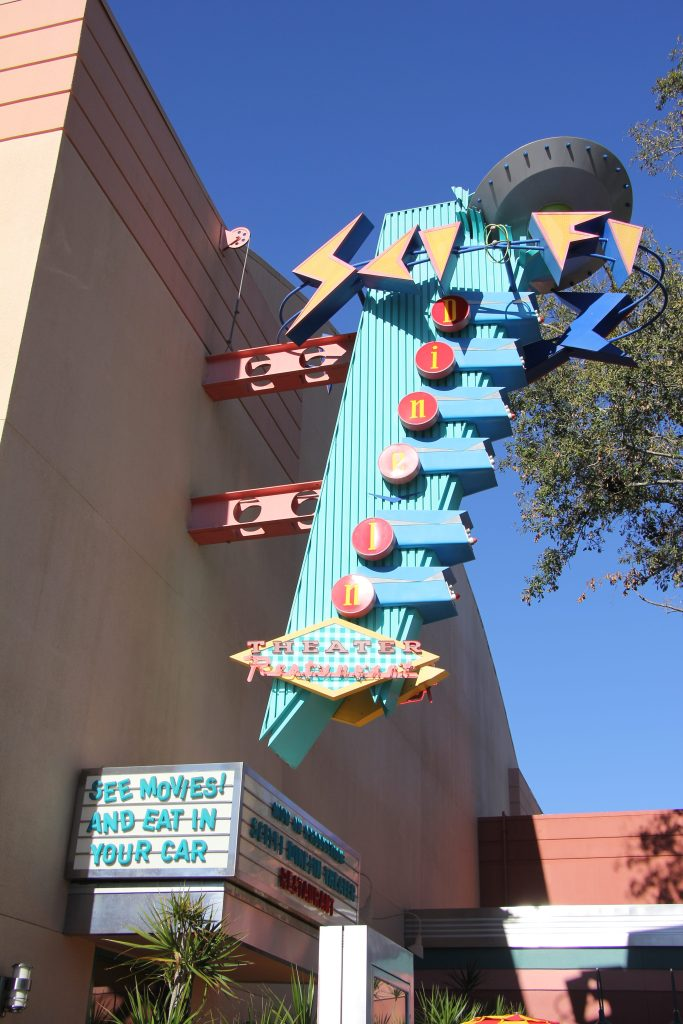 SciFi Dine In Theatre Sign Hollywood Studios