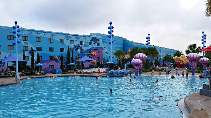 The Big Blue Pool at Disney's Art of Animation Resort