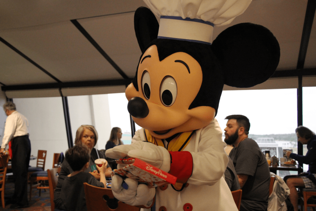 Mickey at Chef Mickeys