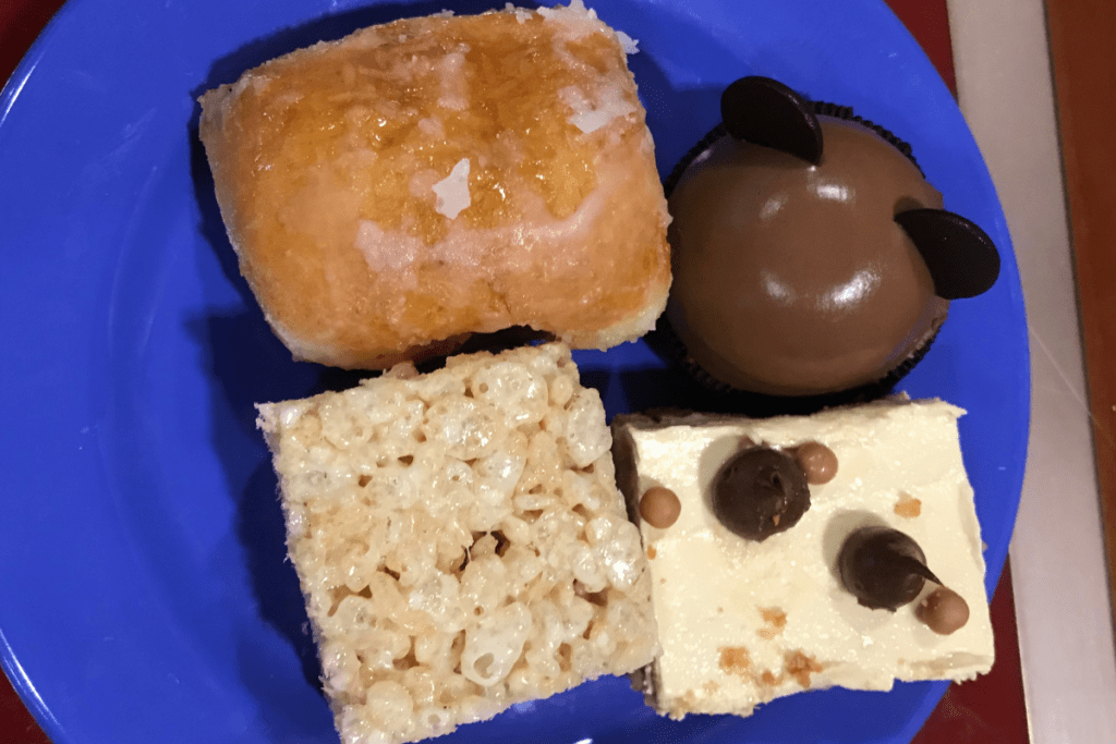 Desserts at Chef Mickey's buffet