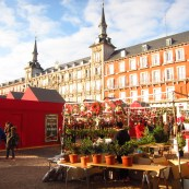 mercado na Plaza Mayor