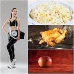 Dieta de arroz, pollo y manzana para adelgazar en 9 días