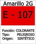 E-107 o Amarillo 2G El colorante sospechoso, a vigilar de cerca