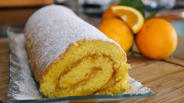 Torta de Laranja com Creme de Laranja