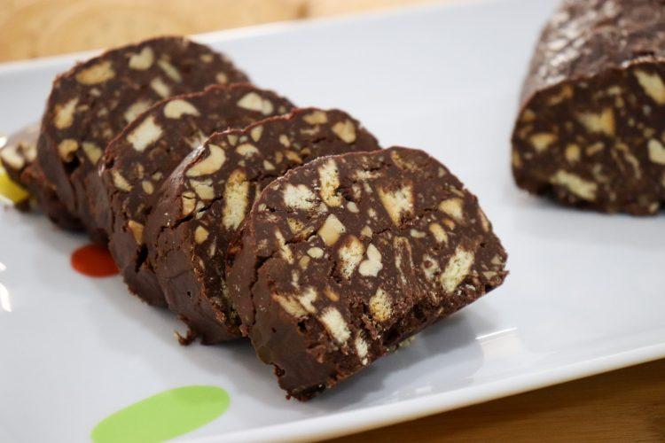 Salame de Chocolate Saudável
