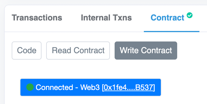 Connect Wallet to Etherscan to Mint an NFT