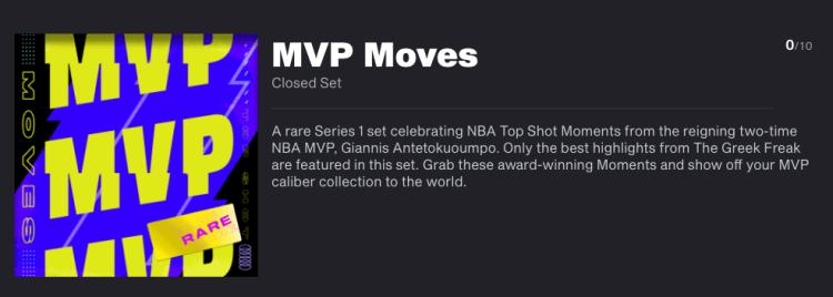 MVP Moves NBA Top Shot Set