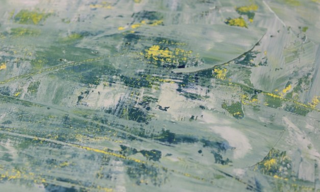 Story of the Artwork – Denim Wounds [Green Colourway] in Oil Paint
