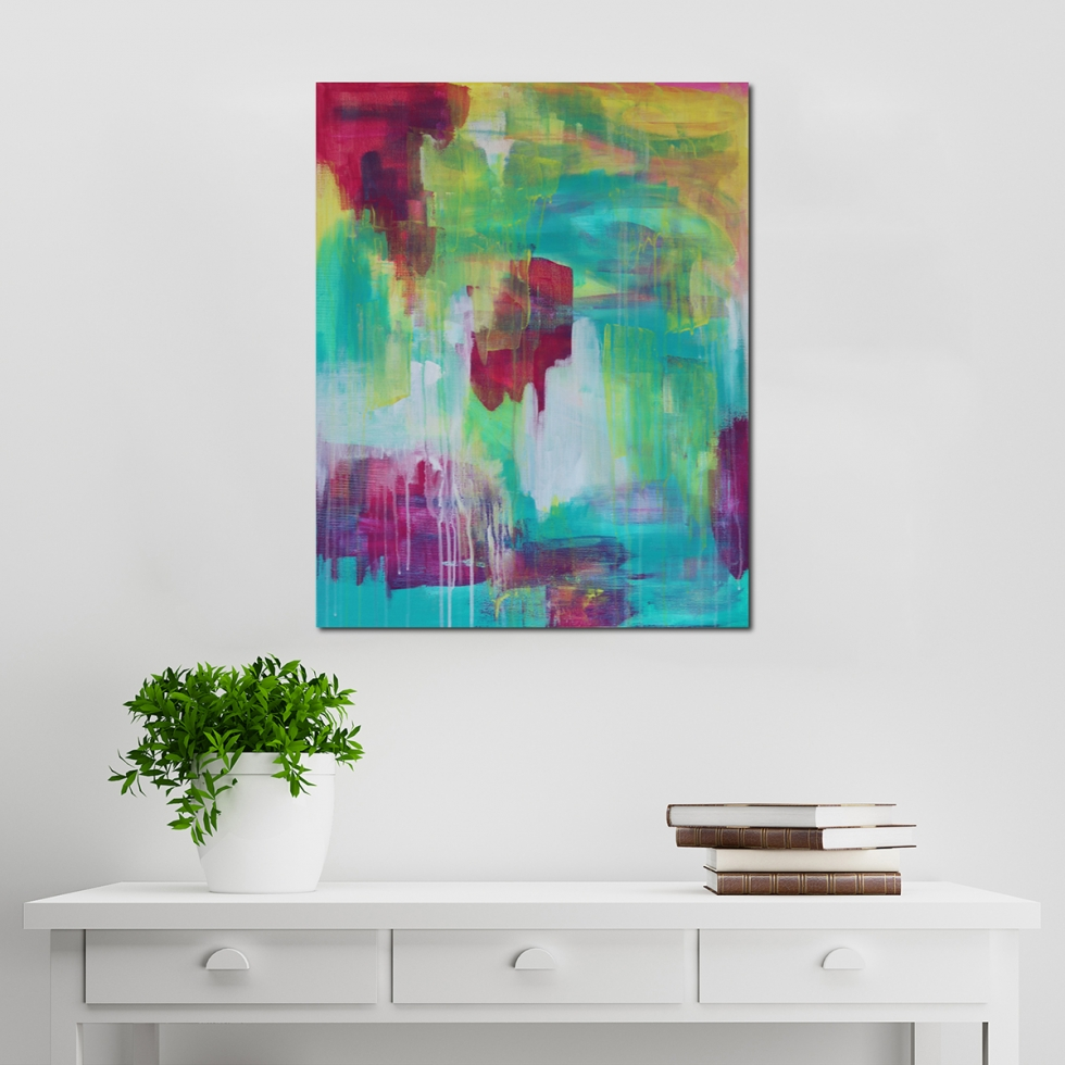 Abstract Acrylic Canvas Art - Nightingale | Moments by Charlie Online Shop
