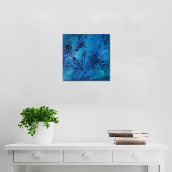 Abstract Acrylic Canvas Art - Ocean Floor by Charlie Albright | Moments by Charlie | Creative Abstract Artist, Photographer and Blogger | Made in Adelaide, Australia