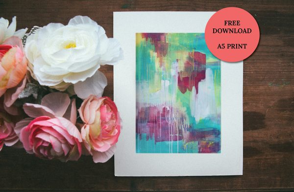 Moments by Charlie BLOG & Online Shop | MBC Community Value Offer | Free A5 Art Print Offer | Abstract Art Print - Summer Nightingale 1 by Charlie Albright
