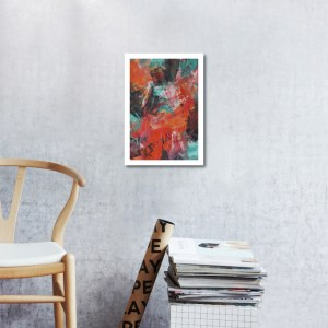 Abstract Acrylic Art On Paper - Zesty 2 by Charlie Albright   Moments by Charlie   Creative Abstract Artist, Photographer and Blogger   Made in Adelaide, Australia