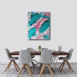 Abstract Acrylic Canvas Art - Ebb & Flow 1 - Movement Collection by artist Charlie Albright | Moments by Charlie | Creative Visual Artist, Photographer and Blogger | Made in Adelaide, Australia