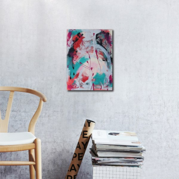 Abstract Acrylic Canvas Art - The Paths Ahead - Movement Collection by artist Charlie Albright | Moments by Charlie | Creative Visual Artist, Photographer and Blogger | Made in Adelaide, Australia