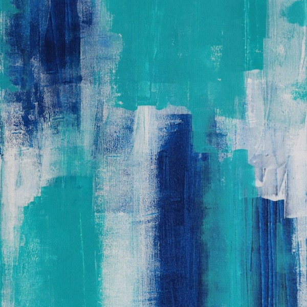 Abstract Acrylic Canvas Art - Walking On Phthalo Blue - Two-Piece Set - Piece 1 by Australian abstract artist Charlie Albright | Moments by Charlie | Creative Visual Artist, Photographer and Blogger | Made in Adelaide, Australia