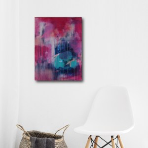Abstract Art Titled Big Dream, Little Dream By Creative Visual Artist Charlie Albright | SALA 2018 Collection - Chasing Dancing Colours | Moments by Charlie Online Shop | Adelaide, South Australia