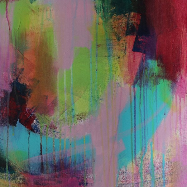 Abstract Art Titled Inner Guidance System By Creative Visual Artist Charlie Albright   SALA 2018 Collection - Chasing Dancing Colours   Moments by Charlie Online Shop   Adelaide, South Australia