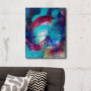 Abstract Canvas Art Titled Another Blessing In Disguise By Creative Visual Artist Charlie Albright   Glenside Art Show 2018 - Mini Exhibition - Where There's A Will, There's A Way   Moments by Charlie Online Shop   Adelaide, South Australia