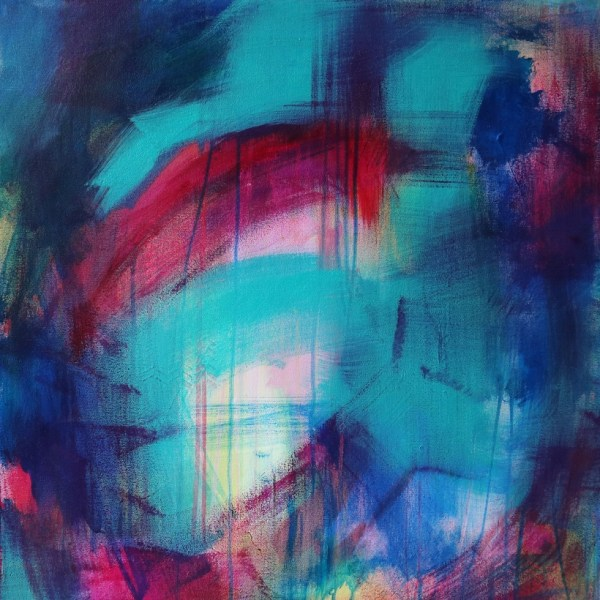 Abstract Canvas Art Titled Another Blessing In Disguise By Creative Visual Artist Charlie Albright | Glenside Art Show 2018 - Mini Exhibition - Where There's A Will, There's A Way | Moments by Charlie Online Shop | Adelaide, South Australia