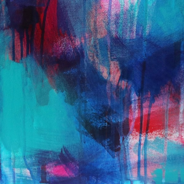 Abstract Canvas Art Titled Stormy Night By Creative Visual Artist Charlie Albright | Glenside Art Show 2018 - Mini Exhibition - Where There's A Will, There's A Way | Moments by Charlie Online Shop | Adelaide, South Australia