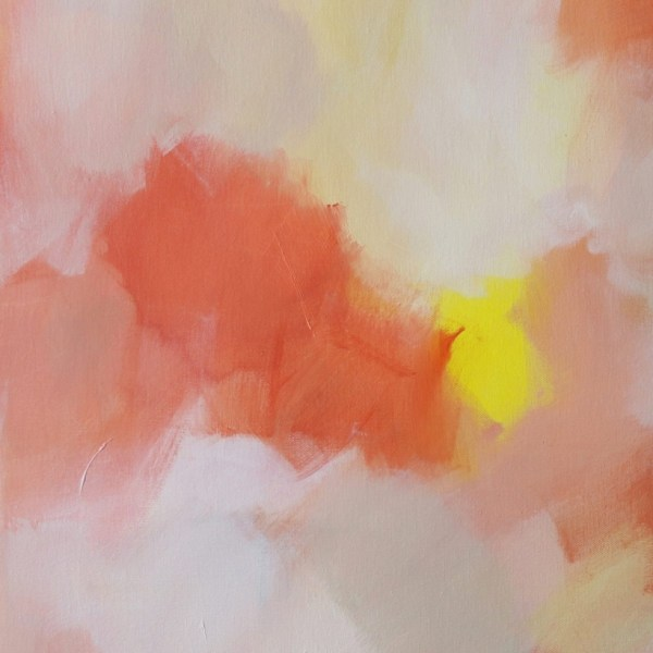 """Abstract Canvas Art Titled Feathers Of Wonder By Adelaide Artist Charlie Albright   Canvas Size 20"""" x 30""""   Moments by Charlie Blog - Online Shop - Creative Freelance Services   Adelaide, South Australia"""