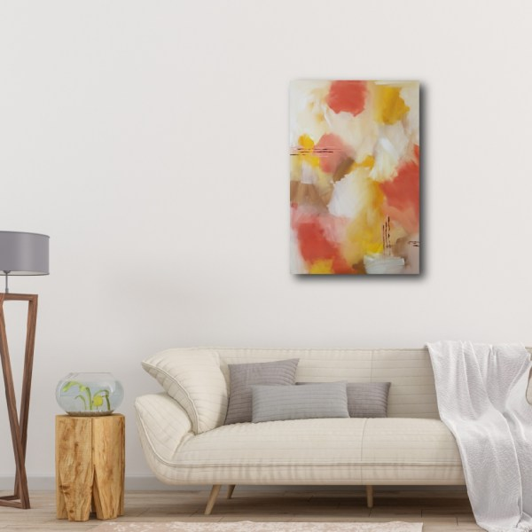 """Abstract Canvas Art Titled Field Of Wonders By Adelaide Artist Charlie Albright   Canvas Size 20"""" x 30""""   Moments by Charlie Blog - Online Shop - Creative Freelance Services   Adelaide, South Australia"""