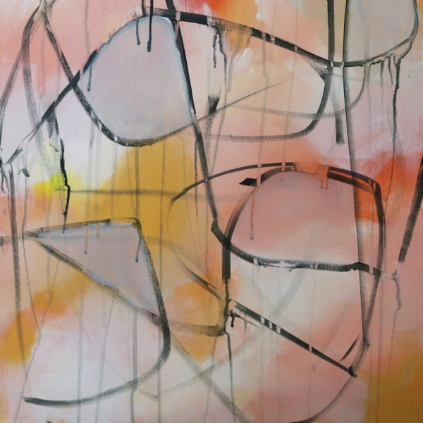"""Abstract Canvas Art Titled In That Moment By Adelaide Artist Charlie Albright 