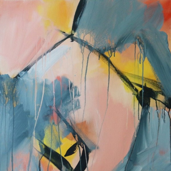 """Abstract Canvas Art Titled Yearning For Change By Adelaide Artist Charlie Albright 