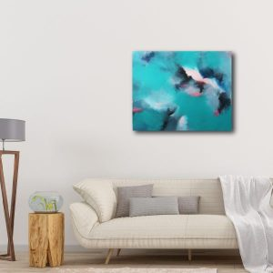 "Abstract Canvas Art Titled Coastal Love By Adelaide Abstract Artist Charlie Albright | Canvas Size 24"" x 30"" 