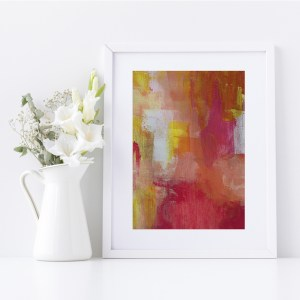 Abstract Fine Art Giclee Print Titled Citrus Love 3 in Size A4 | By Adelaide Abstract Artist Charlie Albright | Moments by Charlie Blog - Online Shop - Creative Freelance Services | Adelaide, South Australia