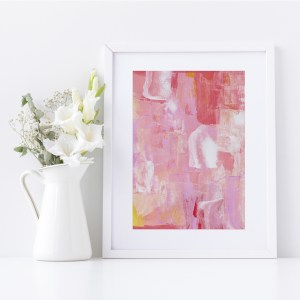 Abstract Fine Art Giclee Print Titled Lollipop Play 1 in Size A4 | By Adelaide Abstract Artist Charlie Albright | Moments by Charlie Blog - Online Shop - Creative Freelance Services | Adelaide, South Australia