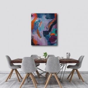 "Abstract Canvas Art Titled Down The River By Adelaide Abstract Artist Charlie Albright | Canvas Size 24"" x 30"" 