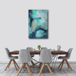 "Abstract Canvas Art Titled On The Horizon By Adelaide Abstract Artist Charlie Albright | Canvas Size 24"" x 30"" 