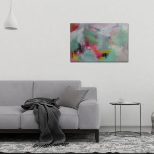 """Abstract Canvas Art Titled Flickers In The Night By Adelaide Abstract Artist Charlie Albright 
