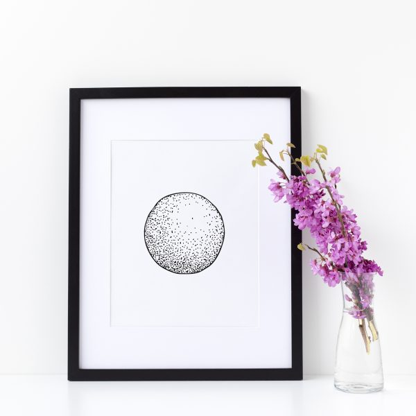 Illustration Art Print Unframed Titled Thy Circle 2 | By Adelaide Abstract Artist Charlie Albright | Moments by Charlie Blog - Online Shop - Creative Freelance Services | Adelaide, South Australia