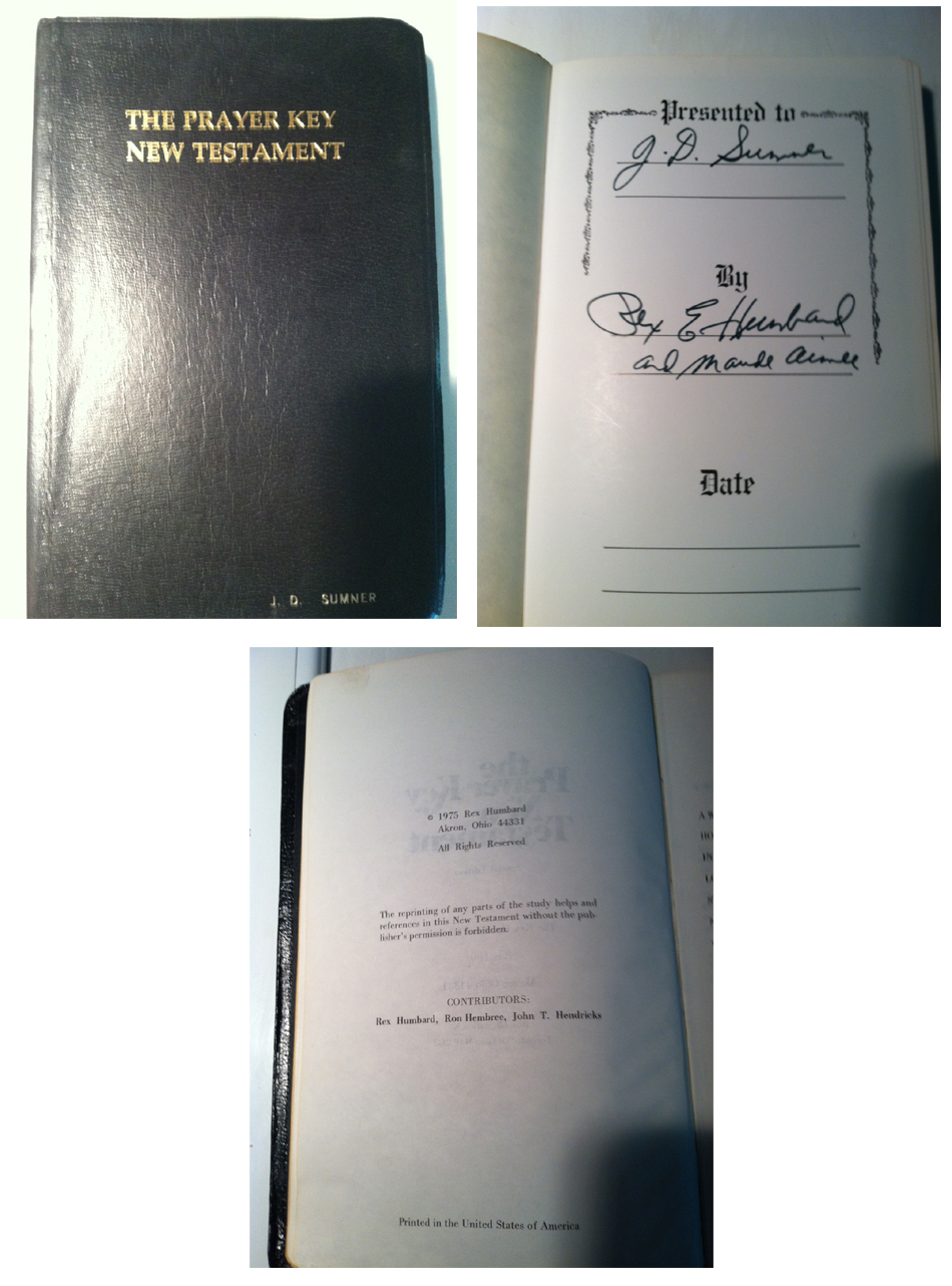 The Bible used by Rex Humbard to preside at Elviss