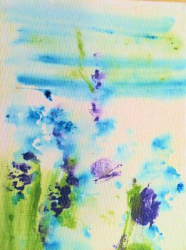 Wally's Butterfly in the Meadow on canvas