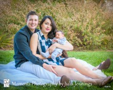 Outdoor Family Portrait with Newborn