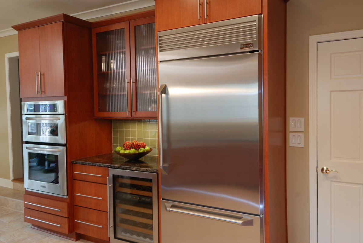 kitchen refrigerator white hutches for basic options explained momentum construction to choosing a the basics start with decision between standard depth counter top and built in design an existing