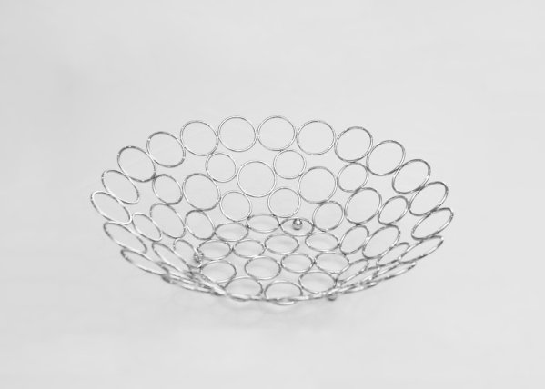 Silver Circle Fruit Bowl 2