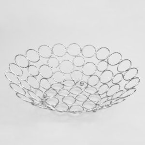 Silver Circle Fruit Bowl 4